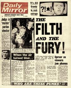 La presse britannique choquée par les Sex Pistols