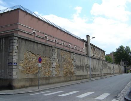 Saint-Joseph et la rue Delandine, sous laquelle passe un souterrain
