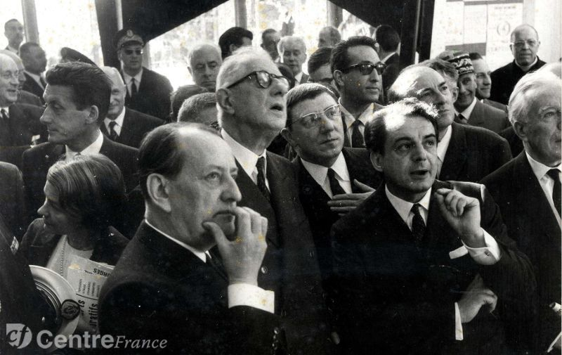 Visite du général de Gaulle à la Maison de la Culture de Bourges, le 15 mai 1963 - Source : Journal Le Berry, 19/01/2013