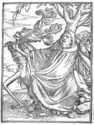 Les simulachres et historiees faces de la mort, autant elegamment pourtraictes, que artificiellement imagînées par Vauzelles, Jean de (1495?-1557?), / 1538 Bibliothèque municipale de Lyon (Rés 357233)