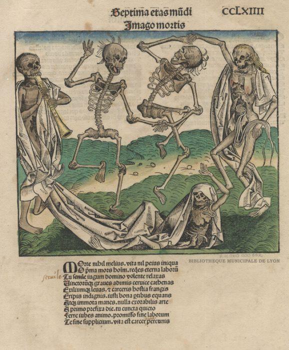 Danse des morts par Wohlgemuth, Michael, 1434-1519 Bibliothèque municipale de Lyon (A16ANO000662)