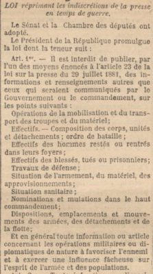 Journal officiel. 6 août 1914