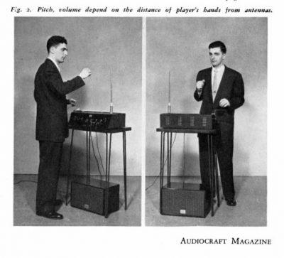 Robert Moog jouant du theremin