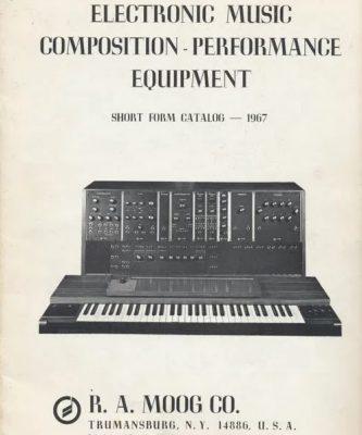 Catalogue de 1967 de Moog Company