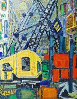 Le chantier du métro Jean Couty