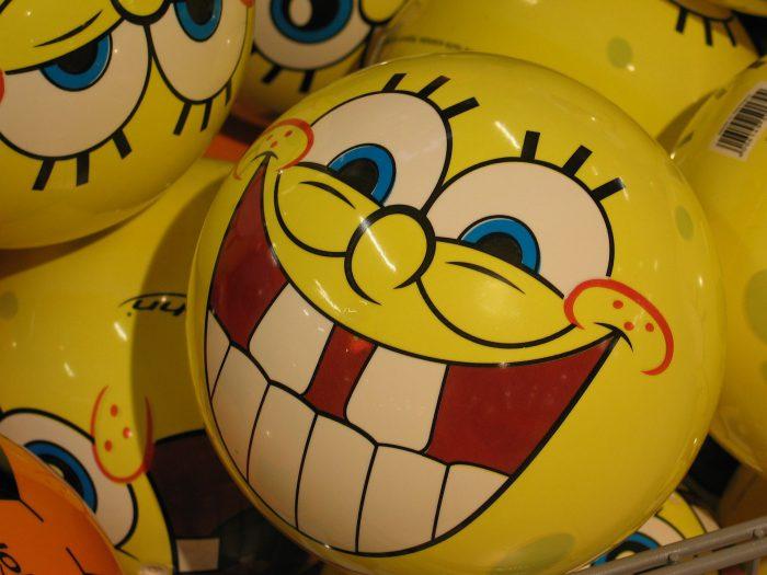 Ballon jaune bob l'éponge