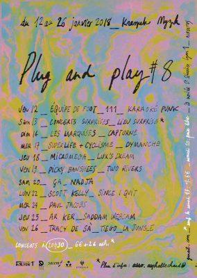 Affiche du Festival Plug and Play du Kraspek Myzik