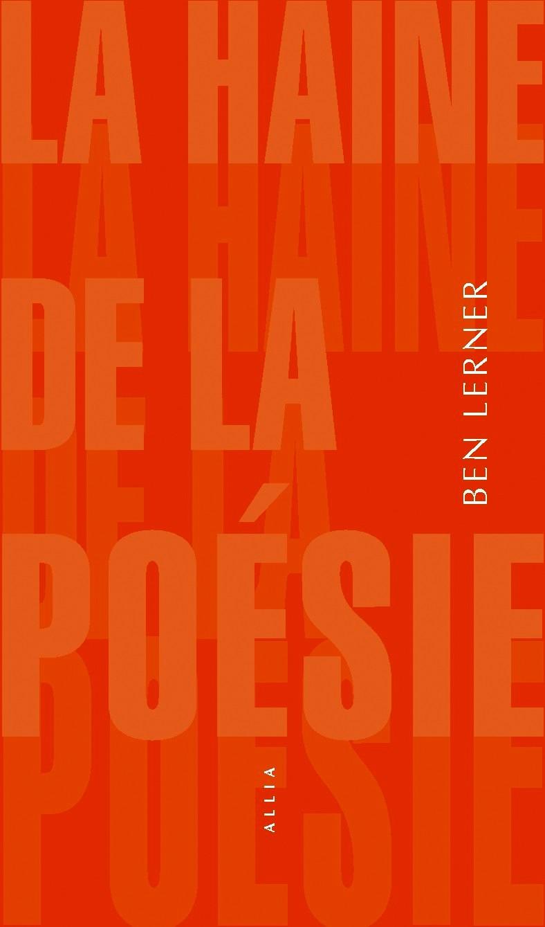 couverture de l'essai de Ben Lerner sur la poésie