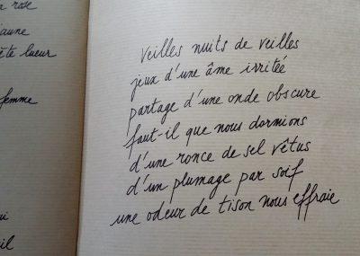 calligraphies de Paul Cendron reprenant des poèmes de Roger Kowalski