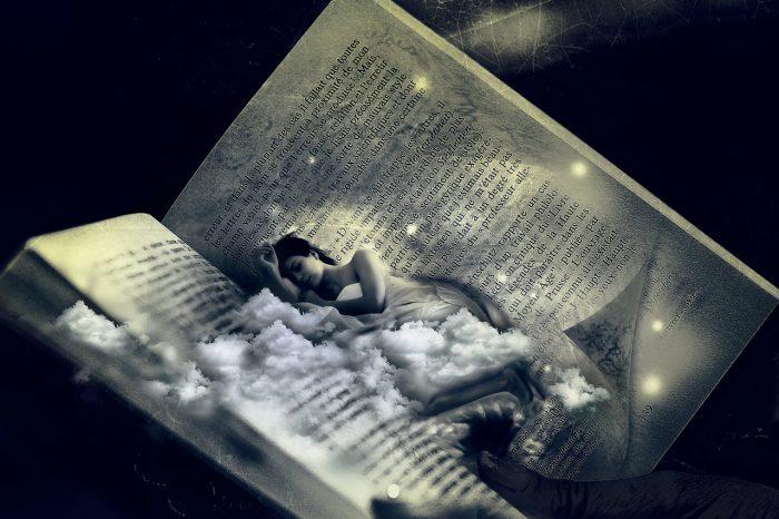 Livre ouvert pour préparer au sommeil