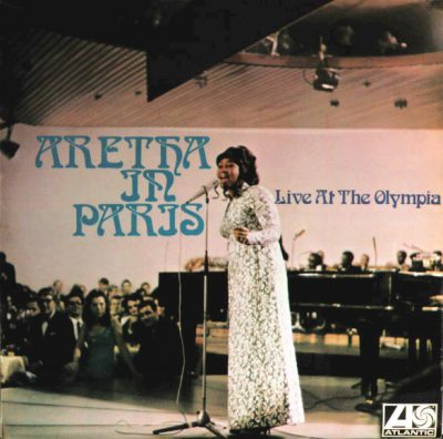 "pochette du disque d'Aretha franklin ""Aretha in Paris"""