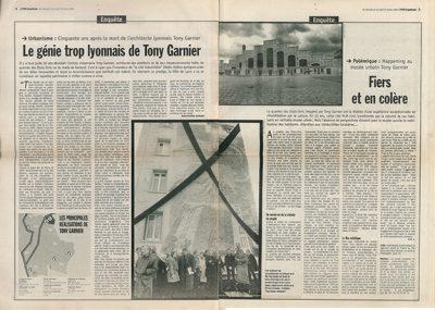 - Le génie trop lyonnais de Tony Garnier / Lyon Capitale du 21 janvier 1998