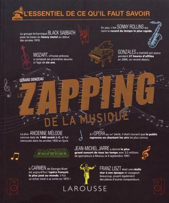 Couverture du livre Le Zapping de la musique de Gérard Denizeau