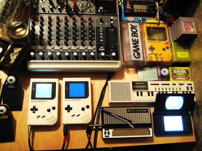Installation studio avec Gameboy