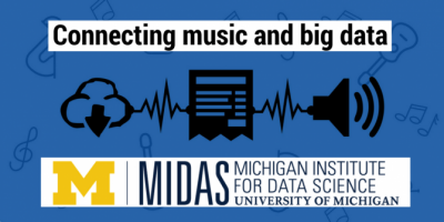 "logo du projet MIDAS : ""connecting music and big data"""