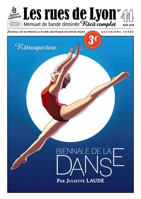 Couverture du numéro 44 sur la Biennale de la Danse
