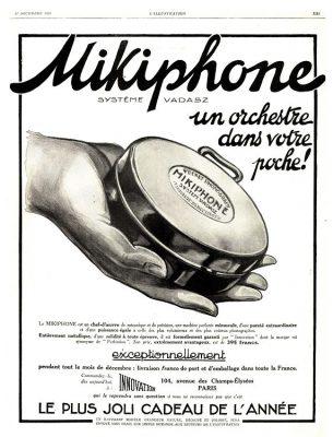 Publicité pour le Mikiphone