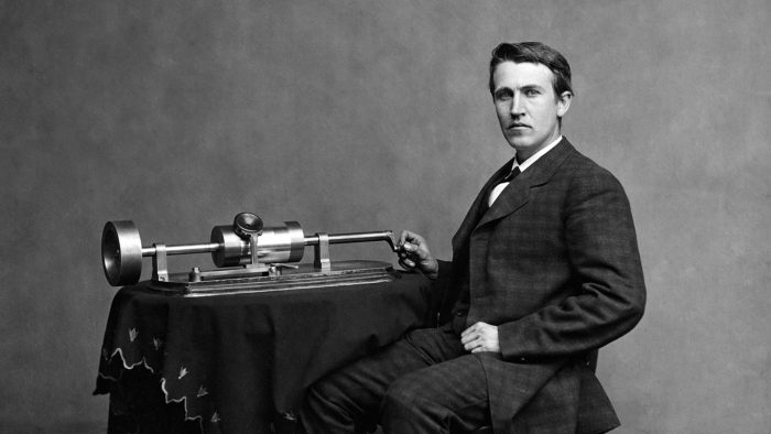 Edison et son phonographe, photo