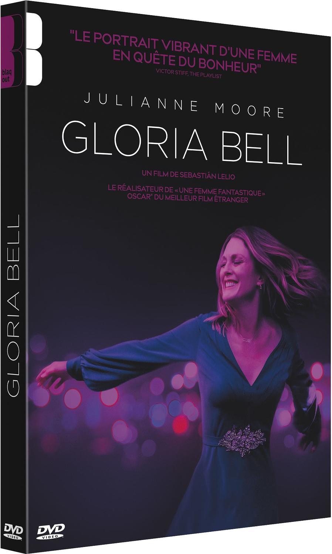 jaquette de Gloria Bell, on voit l'actrice Julianne moore qui l'incarne danser en souriant.
