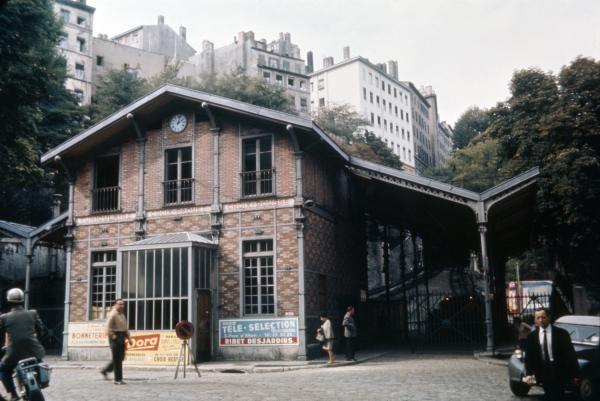 La gare basse du funiculaire Croix-Paquet - Croix-Rousse