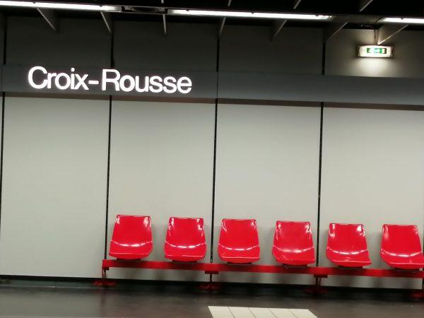 La station Croix-Rousse du métro de Lyon