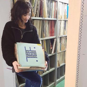 Maud Geffray dans le silo de la BmL