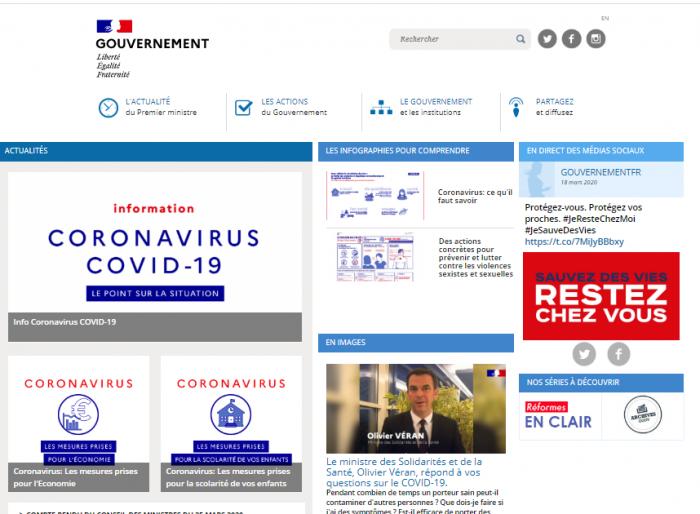 site Gouvernement.fr