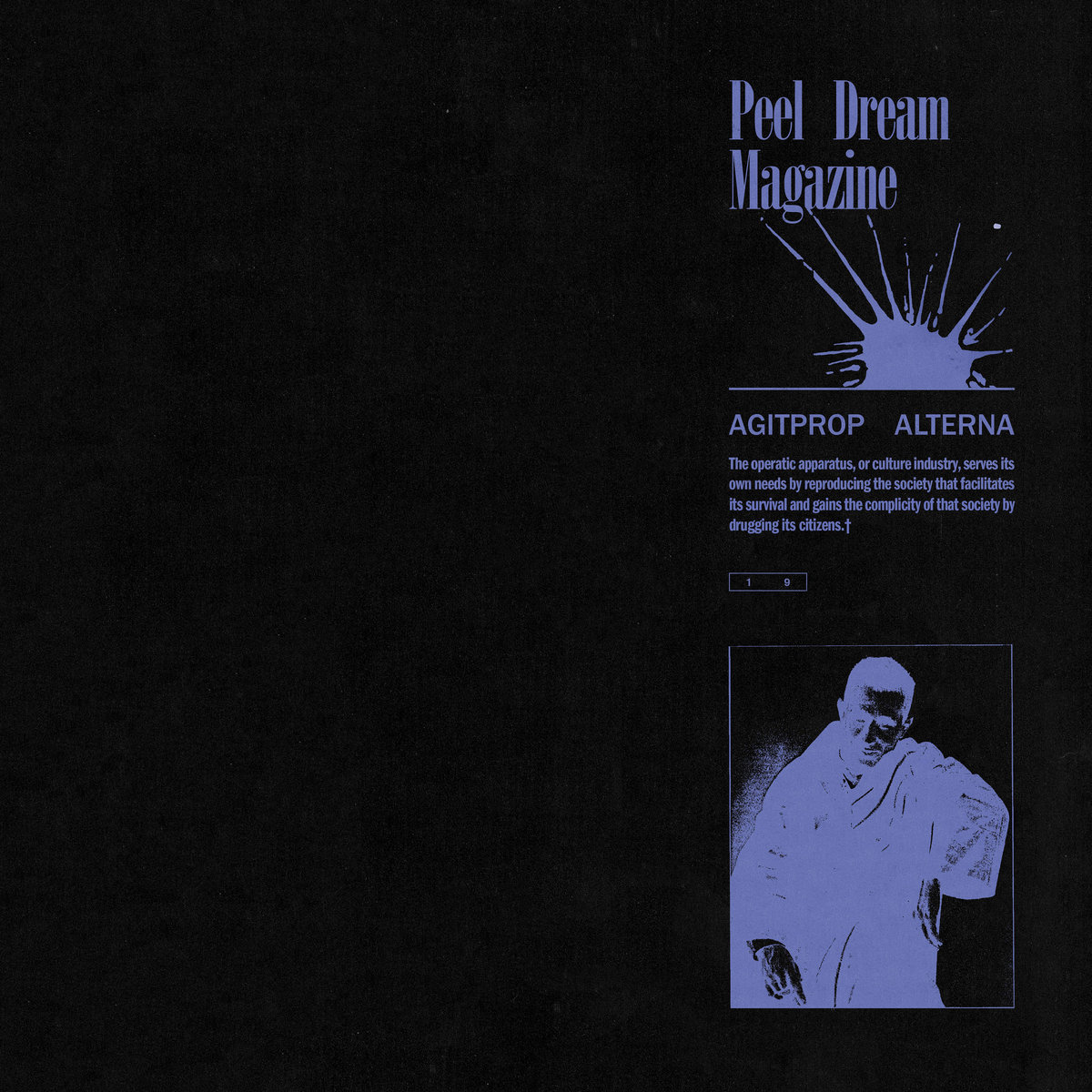 pochette de l'album Agitprop alterna du groupe Peel Dream Magazine