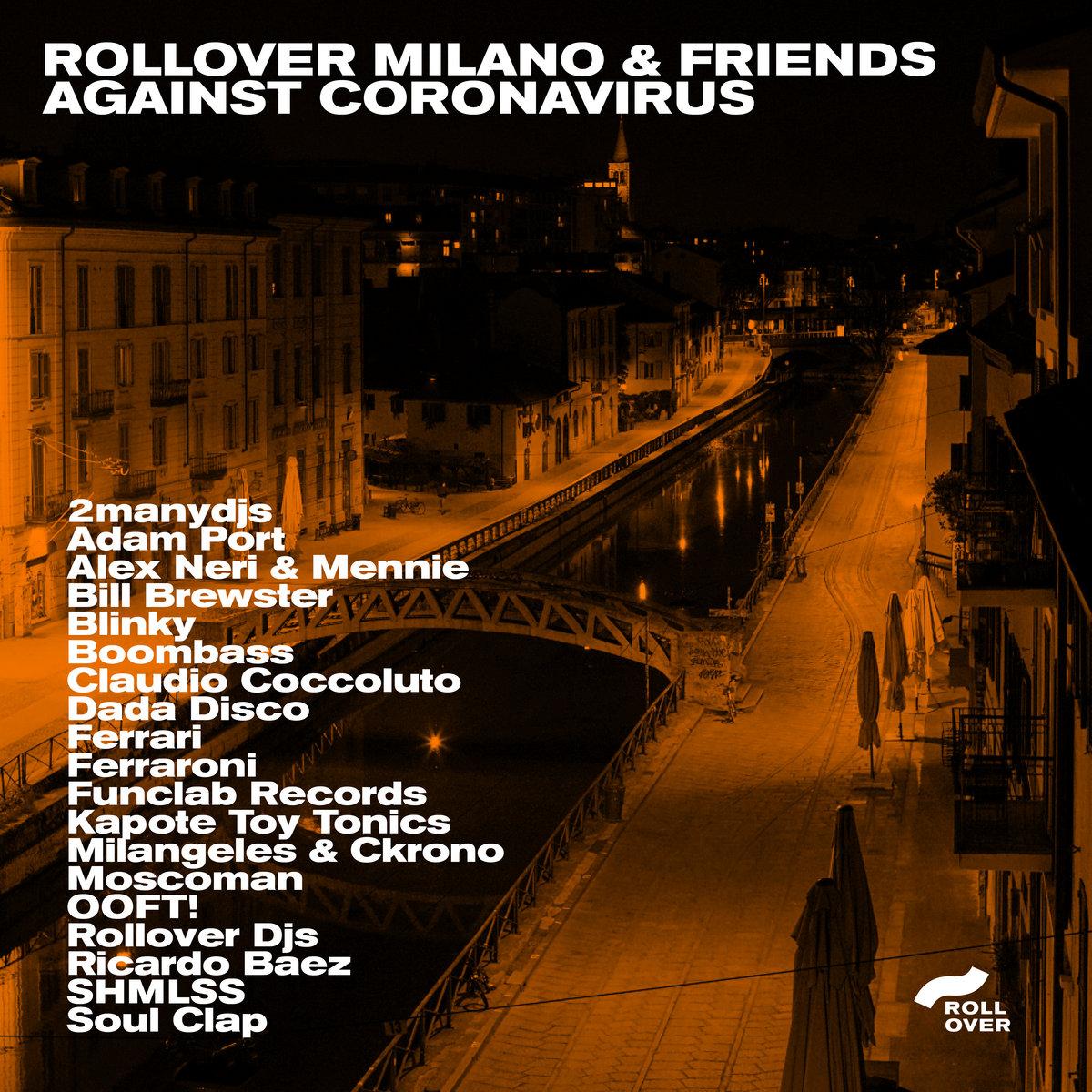 pochette de la compilation Rollover Milano against Coronavirus
