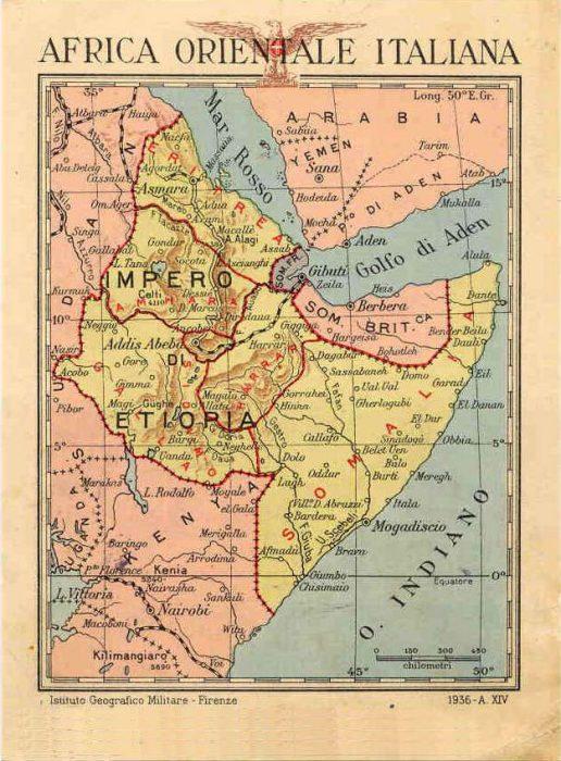 Carte Africa orientale italiana