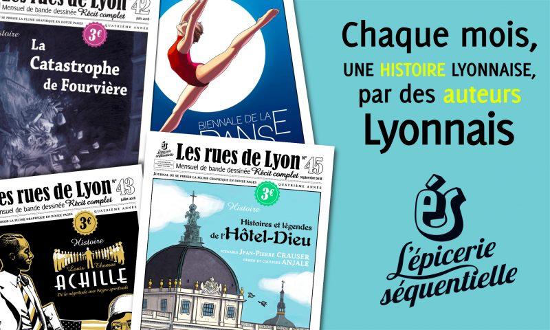 jacquette Les rues de Lyon, mensuel de bande dessinée