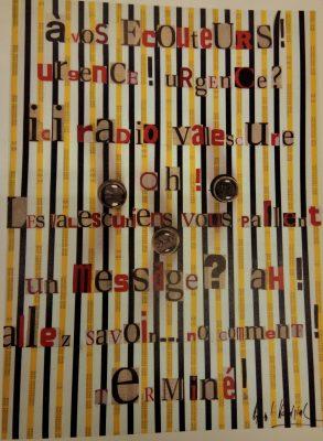 collage intitulé Radio Valescure du poète Bernard Heidsieck