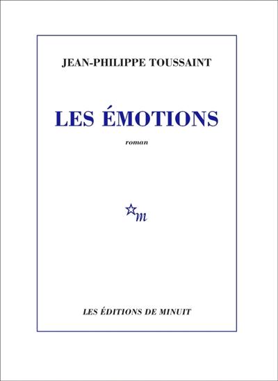 couverture du nouveau roman de Jean philippe Toussaint