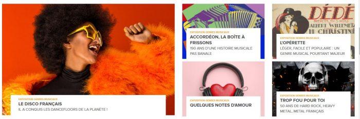 Cliquer pour visiter les expositions du musée de la Sacem