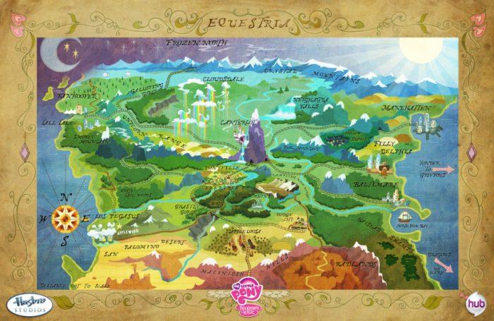 Carte du royaume d'Equestria