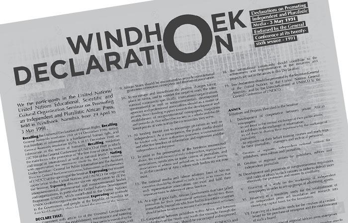jacquette La Déclaration de Windhoek