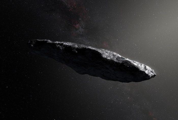vue d'artiste de Oumuamua