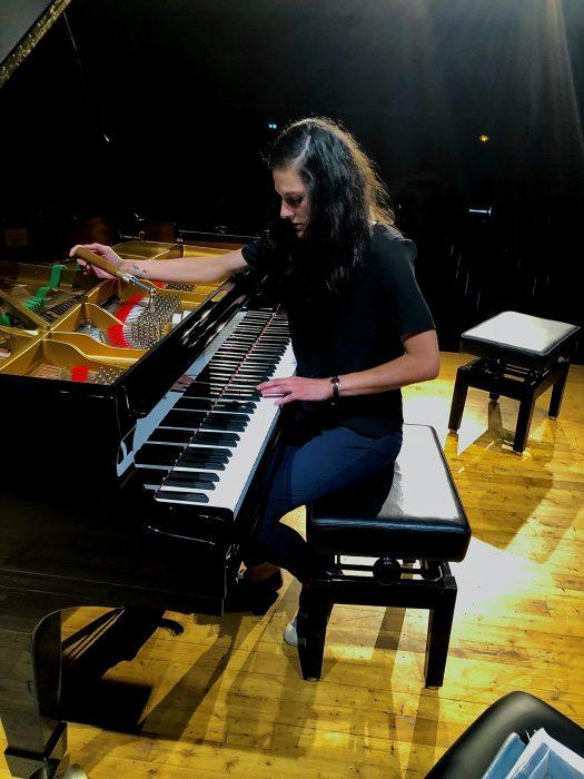 Photo d'un accordage de piano