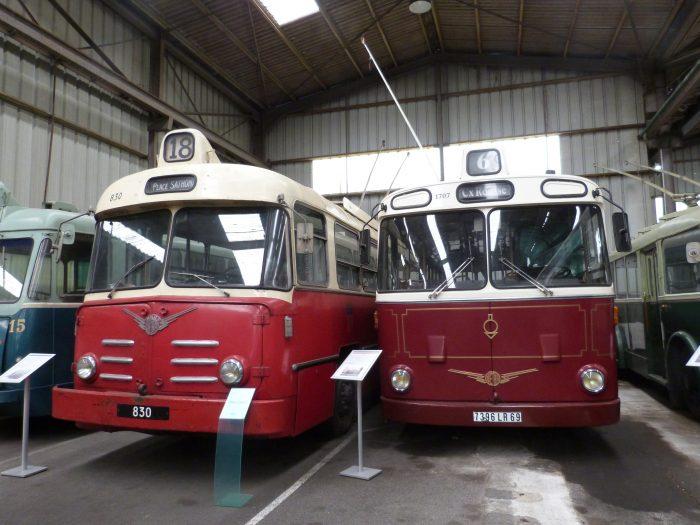Trolleybus VA3B et VBH85 au Musée des transports urbains