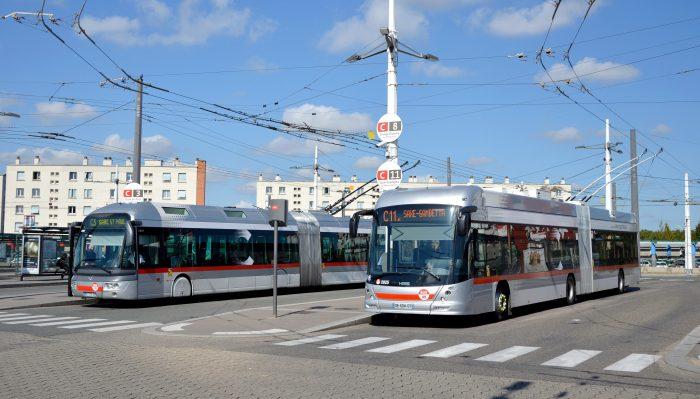 Trolleybus Cristalis et Hess à Laurent Bonnevay