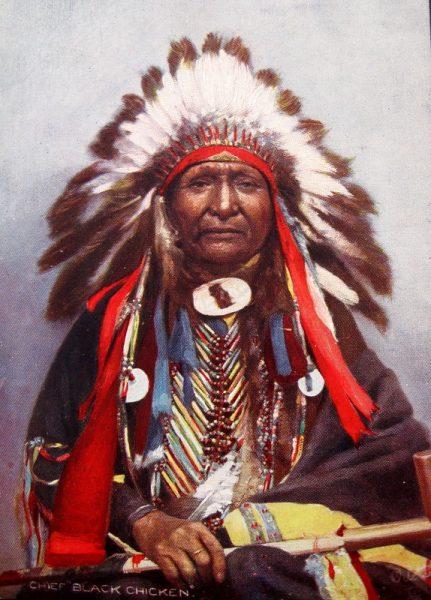 photo colorisée de Chief Black Chicken